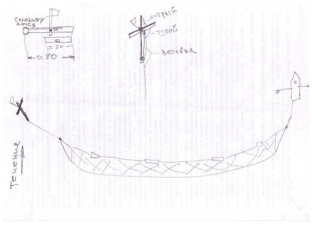 Как сделать крестовину для сплавных сетей 909