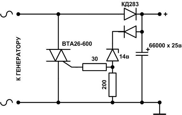 Регулятор напряжения на тиристоре схема фото 873