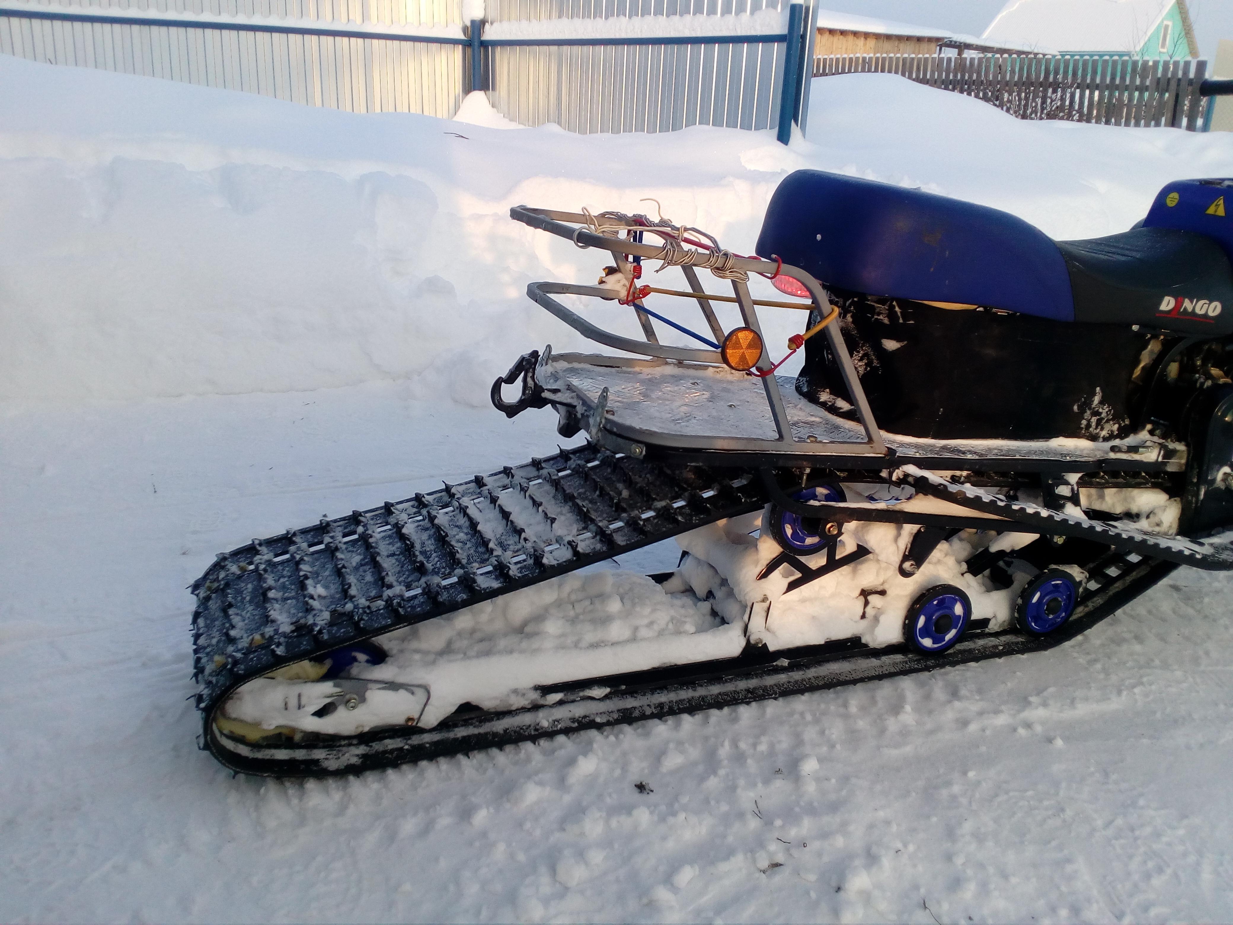 Как сделать самодельный снегоход на гусеницах 66