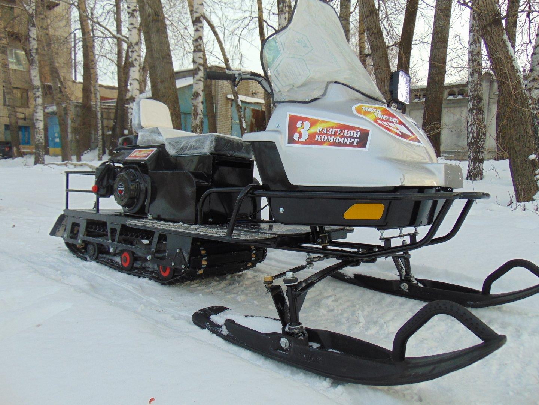 Мотобуксировщик с лыжным модулем своими руками6