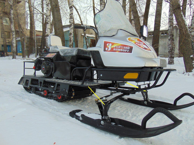 Мотобуксировщики своими руками с лыжным модулем 223