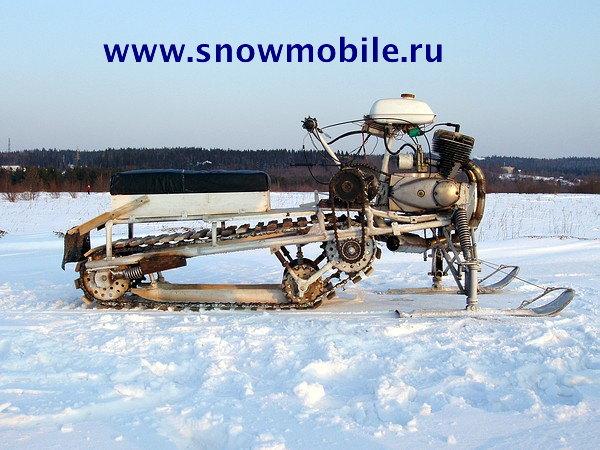 Russian homemade snowmobiles