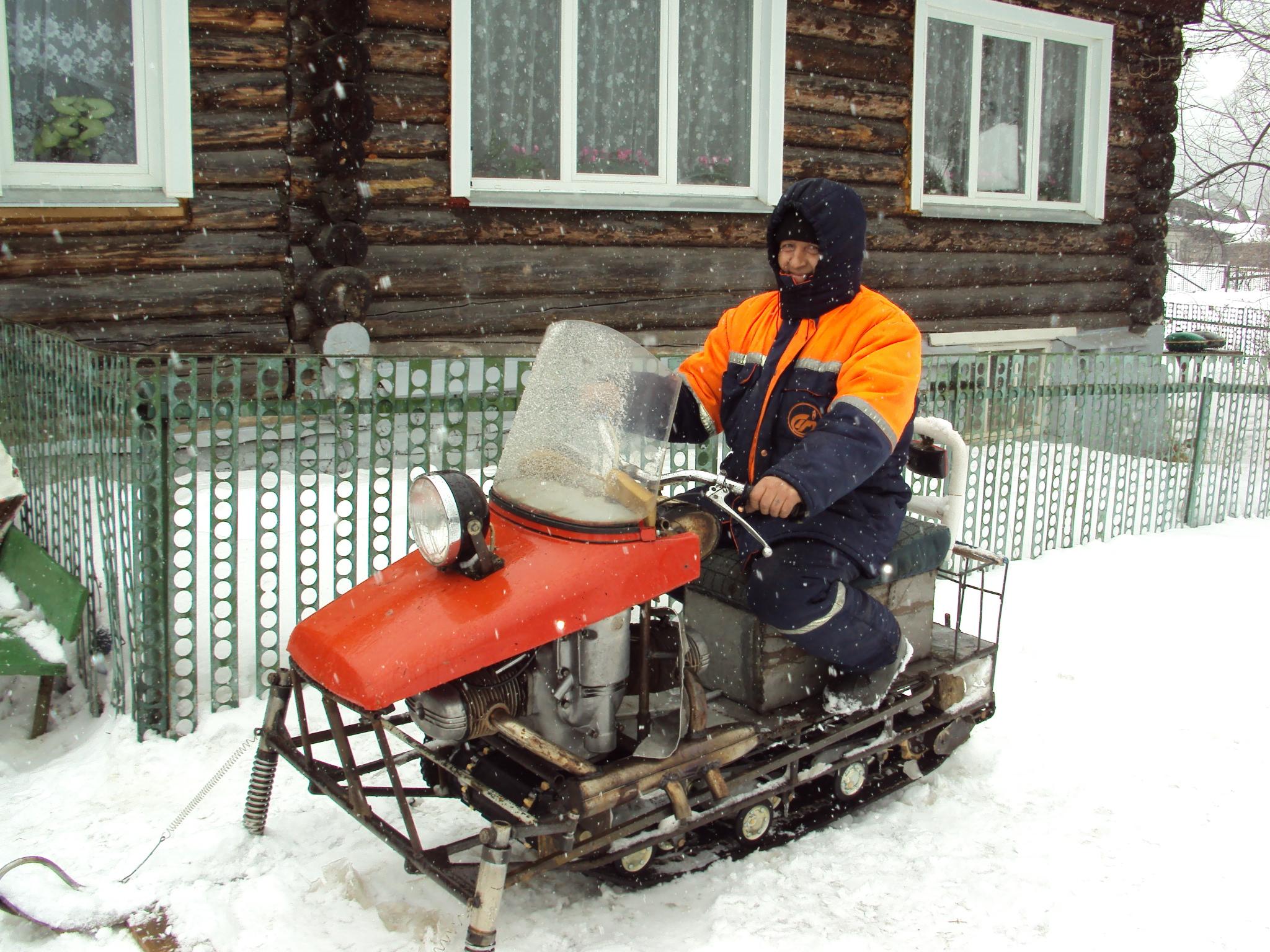 Снегоходы с деланы своими руками