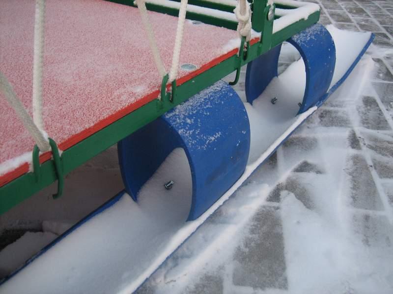 Сани для снегохода своими руками из пластиковых труб