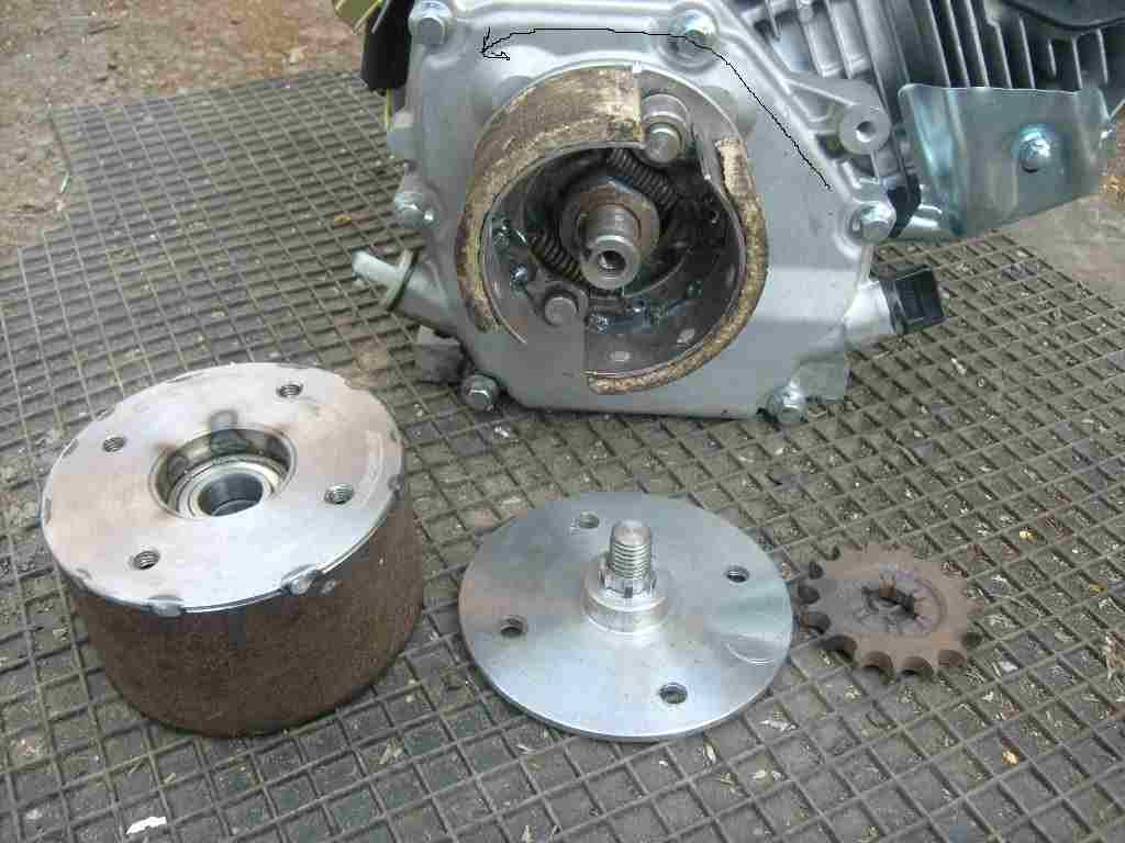 Двигатель и сцепление своими руками фото 994
