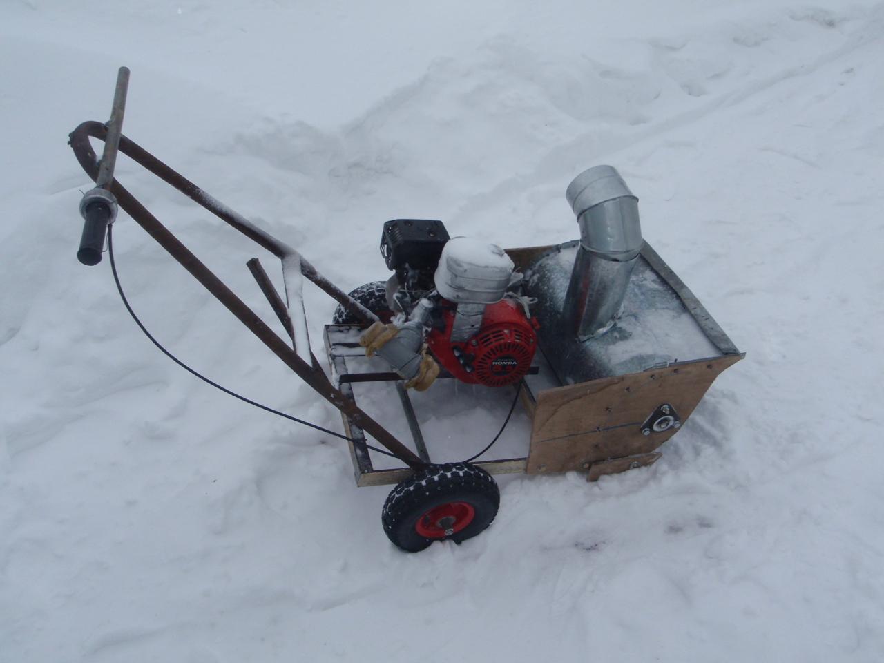 Снегоуборщик своими руками из болгарки
