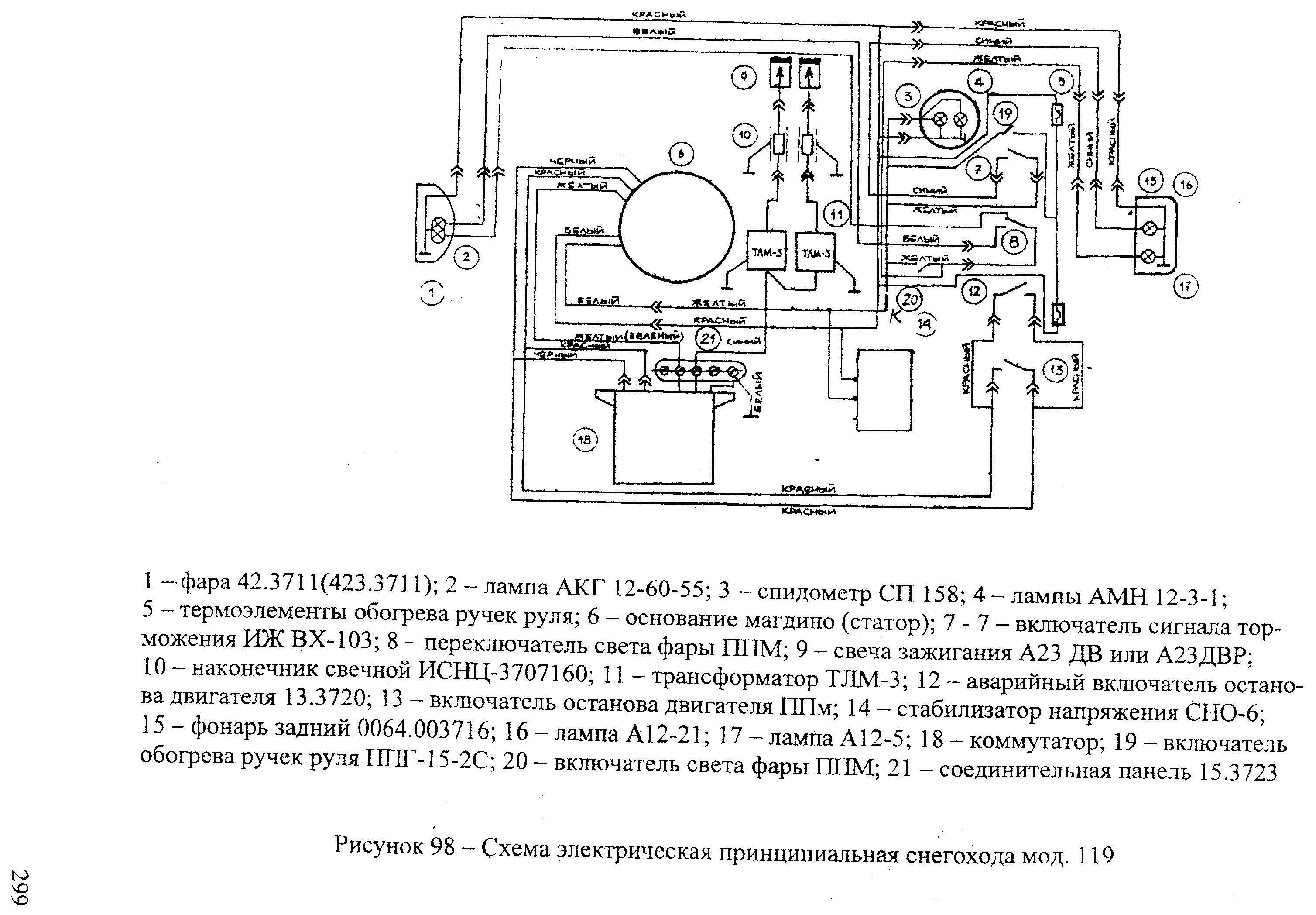 подробная схема распределителя зажигания