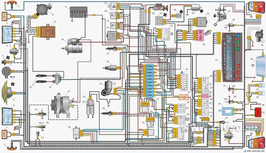 Проводка таврия 1102 схема 288