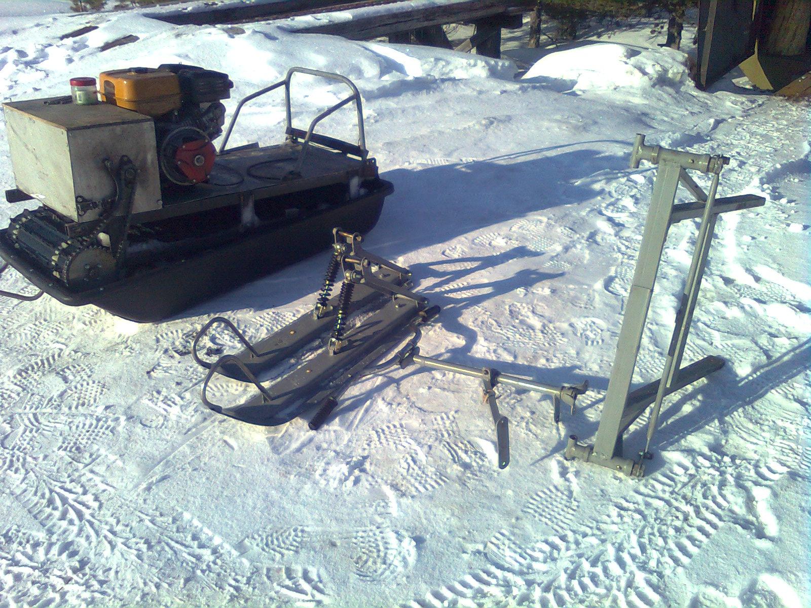 Как сделать самодельный снегоход на гусеницах 55
