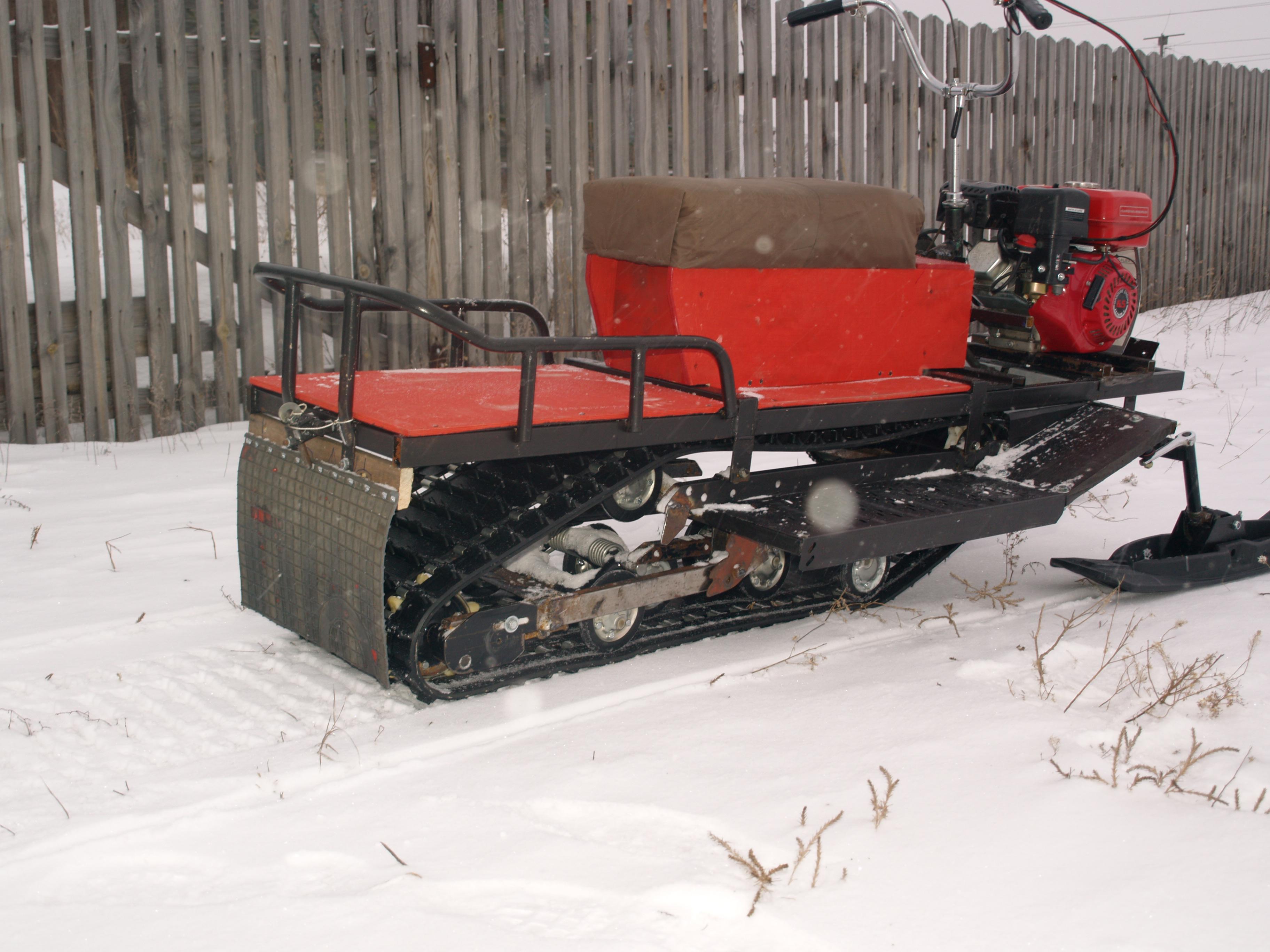 Как сделать самодельный снегоход на гусеницах 8