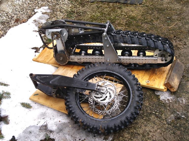 Сделать гусеницы для снегохода 125