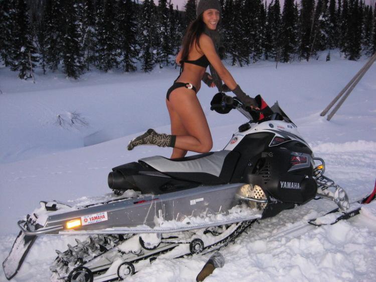 Русское порно зимой снегоходы