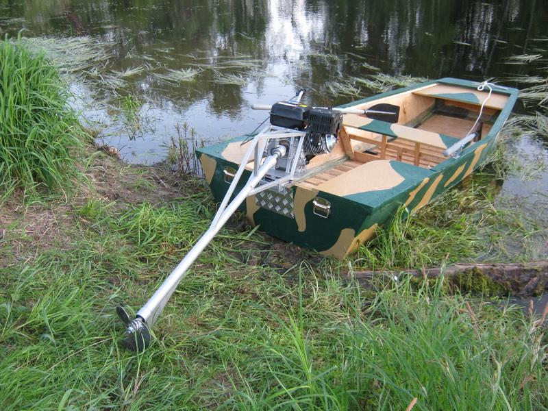 как изготовить лодочный болотоход